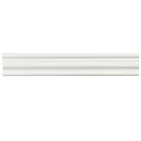 Merola Tile Chester Bianco 2 In X 12 In Chair Rail