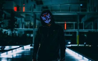 Mask Anonymous Neon Hood 4k Glow Ultra