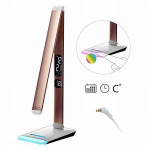 Lampe Mit Farbwechsel : led design touch farblampe tischlampe led rgb farbwechsel mit kalenderanzeige ebay ~ Orissabook.com Haus und Dekorationen