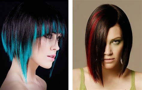 colors  short hair  short  cuts