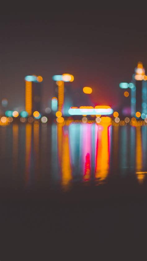 wallpaper blur bokeh city night   architecture