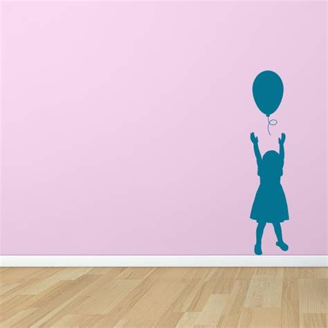 girl  balloon wall decal wall decal world