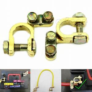 New 2Pcs Replacement Auto Car Battery Terminal Clamp Clips ...