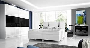 Schlafzimmer Set Mit Boxspringbett : komplett schlafzimmer hochglanz rivabox ii ~ Bigdaddyawards.com Haus und Dekorationen
