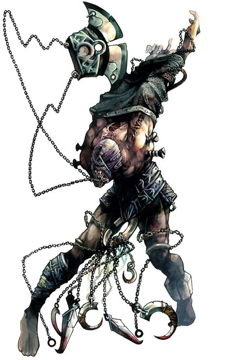 chained monster design characters art lineage ii
