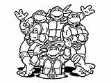 Ninja Coloring Pages Turtles Turtle Mutant Teenage sketch template