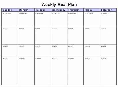 Meal Worksheet Plan Diet Weekly Printable Planner