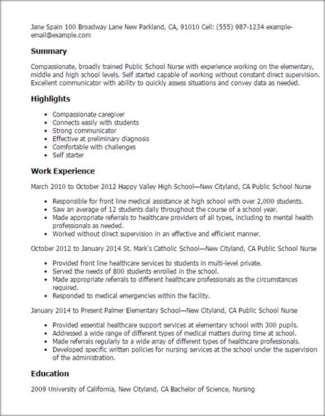 nursing school application resume professional school templates to showcase your talent myperfectresume