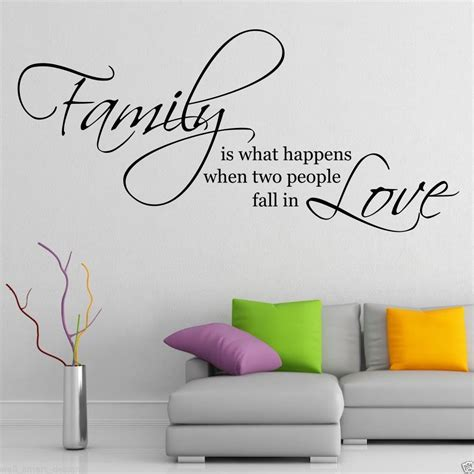 stickers phrase chambre family wall sticker quote living room decal mural