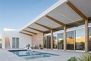 A, Modern, Courtyard, House, In, Phoenix