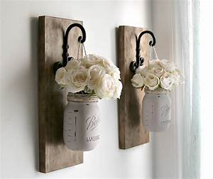 Rustic sconces wall decor mason jars sconce farmhouse