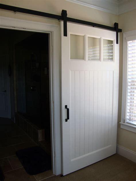 bathroom closet door ideas modern panel barn door