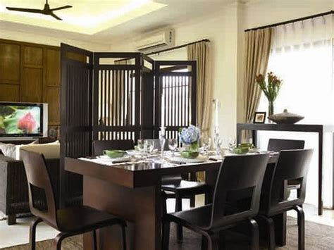 Connected Living And Dining Room Decor