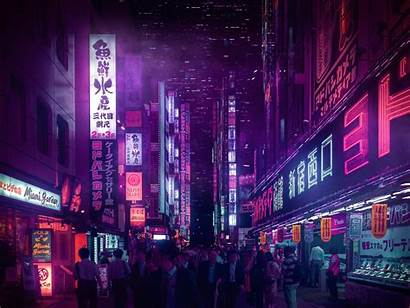 Tokyo Cyberpunk Neon Vaporwave Zaki Lights Aesthetic