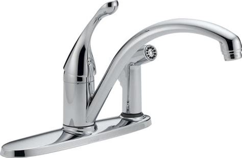 Delta Kitchen Faucets At Menards by Delta 174 Collins Water Efficient 1 Handle Integral Side