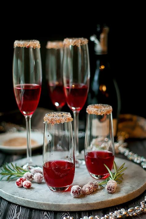 Cranberry Ginger Sparkling Holiday Cocktail  Cooks With