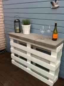 Teak Bathroom Shelving Unit by Easy Diy Project Pallet Outdoor Bar 1001 Pallets