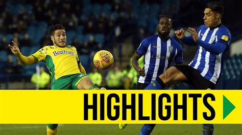 HIGHLIGHTS: Sheffield Wednesday 0-4 Norwich City - YouTube