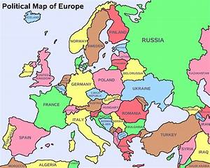 Europe Political Map With Capitals | Thefreebiedepot