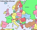Large big Europe flag, political map showing capital ...