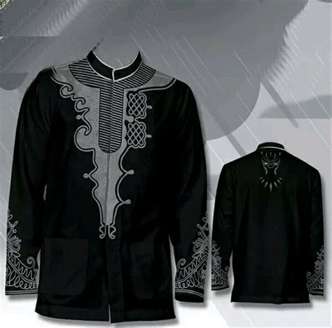 jual baju koko black panther tchala king wakanda marvel black avenger pakaian muslim