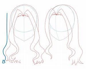 How to Draw Girl Hair, Step by Step, Anime Hair, Anime ...