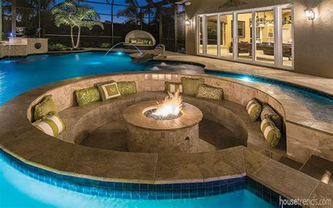 sunken conversation pit surrounded  water
