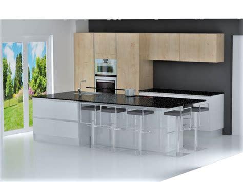 cuisines laqu馥s blanches cuisine portes et faades de tiroirs en panneau de fibres de moyenne densit p cuisine esprit loft industriel cuisine ouverte faade laqu