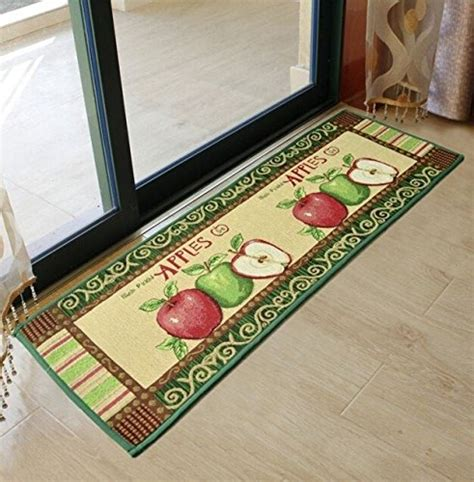 ustide  piece vintage style apple kitchen rug set anti skid bathroom rug sets shabby balcony