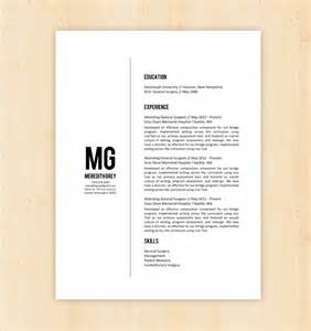 minimalist word resume format resume template cv template the meredith grey by phdpress