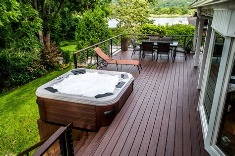 Tub On Deck by Spa And Deck Spa Installation Spa Decks In Deck Spa