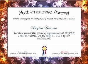 Most improved award certificate created with for Most improved certificate template
