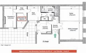 plan appartement 2 chambres with plan appartement 2 With amazing photo de plan de maison 2 descriptif chambres etudiants