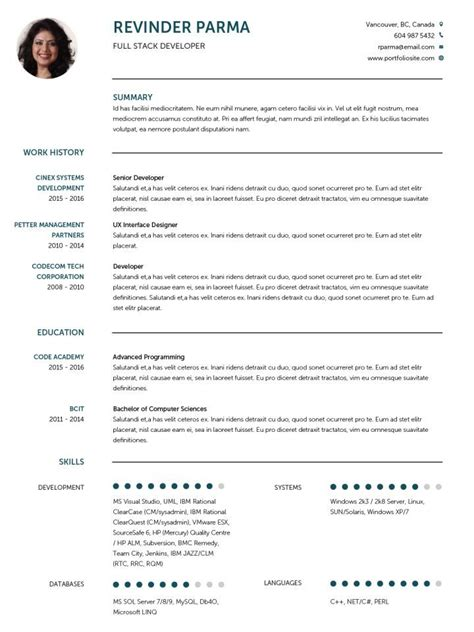 Curriculum Vitae Resume Template by Cv Template 1 Cv Template Resume Design
