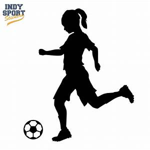 little girls soccer clipart silhouette - Clipground