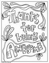 Coloring Appreciation Teacher Principal Printable Week Nurse Awesome Being Thanks Secretary Month Printables Fun Celebrate Classroom Ide Classroomdoodles Temukan Tentang sketch template