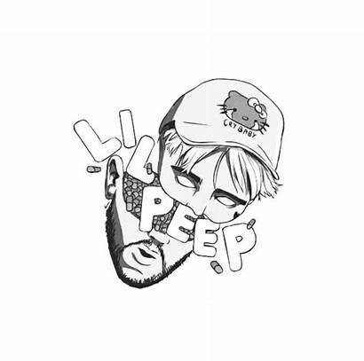 Peep Lil Tattoos Rapper Drawings Tattoo Hellboy