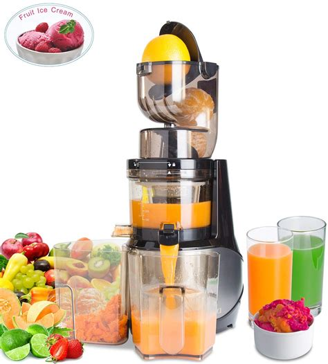 juicer masticating slow cold press clean extractor machine whole oxidation vegetable anti ac easiest fruit amazon 300w chute rpms bpa