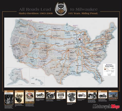 Harley Davidson Maps by Celebrate 105 Years Of Proud With The Harley