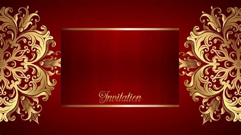 Border Background Hd by Wedding Intro Background Free Border Gold Text