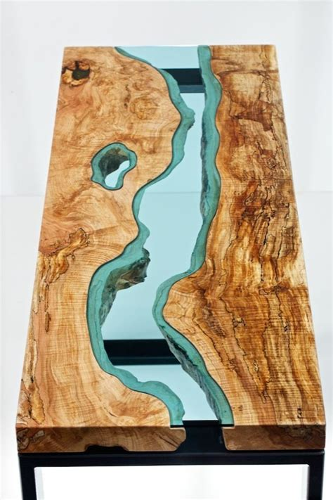 Tisch Holz Glas by Artist Creates Wooden Tables With Glass Rivers And Lakes