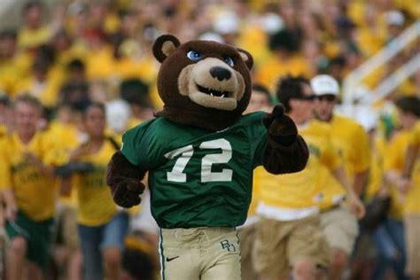 baylor university bears football costumed mascot bruiser