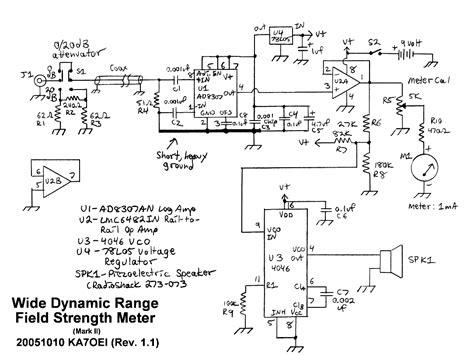 Wide Dynamic Range Field Strength Meter Measuring
