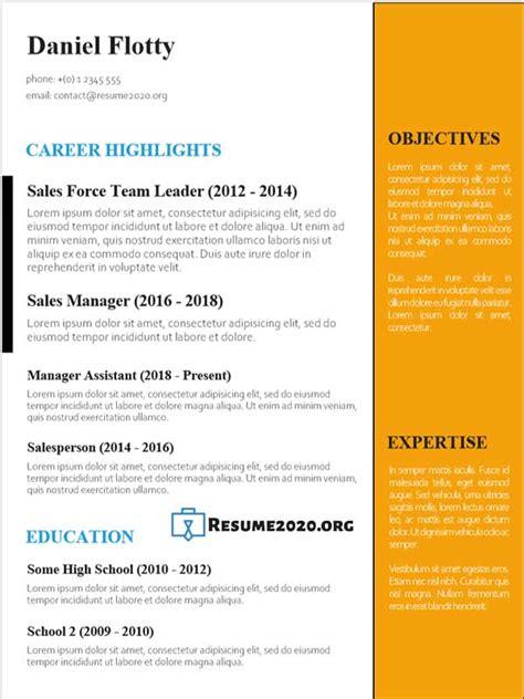 resume templates    examples  docx