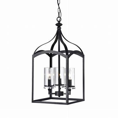 Lantern Chandelier Pendant Antique Glass Shades Edvivi