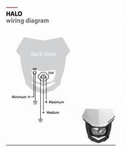 2005 Honda Crf250r Supermoto Headlight Installation Using Tusk Wire Harness