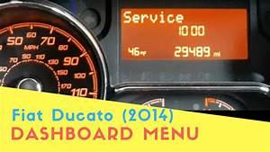 Fiat Ducato  2014  Dashboard Menu