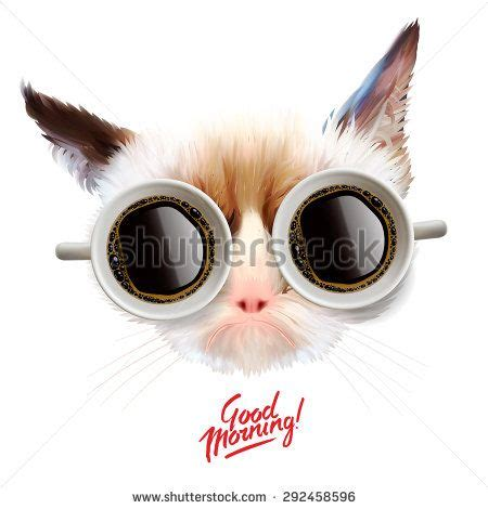 Regular price $2.99 her day starts with a coffee and ends with a wine svg png cutting printable files. Good morning! Funny cat with cups of coffee glasses, vector illustration. - stock vector (With ...