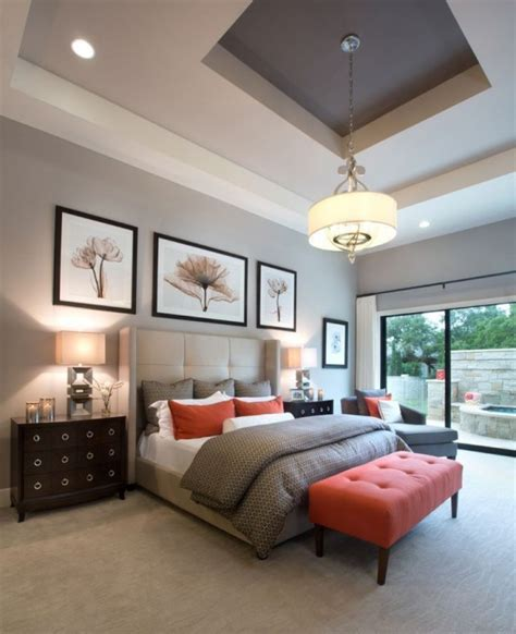 bedroom themes ideas stylid homes 30 grey and coral home décor ideas digsdigs