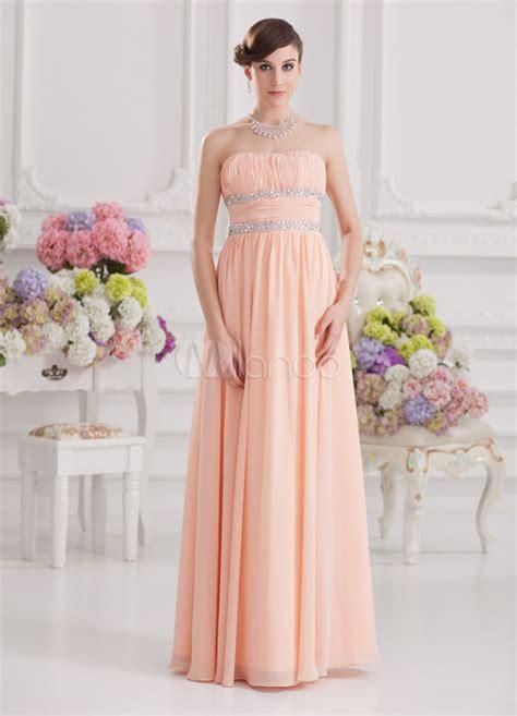 empire du mariage 10eme robe de soir 233 e taille empire orange en satin stretch et